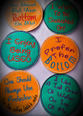 Cheeky Coasters ~ Set Of 6