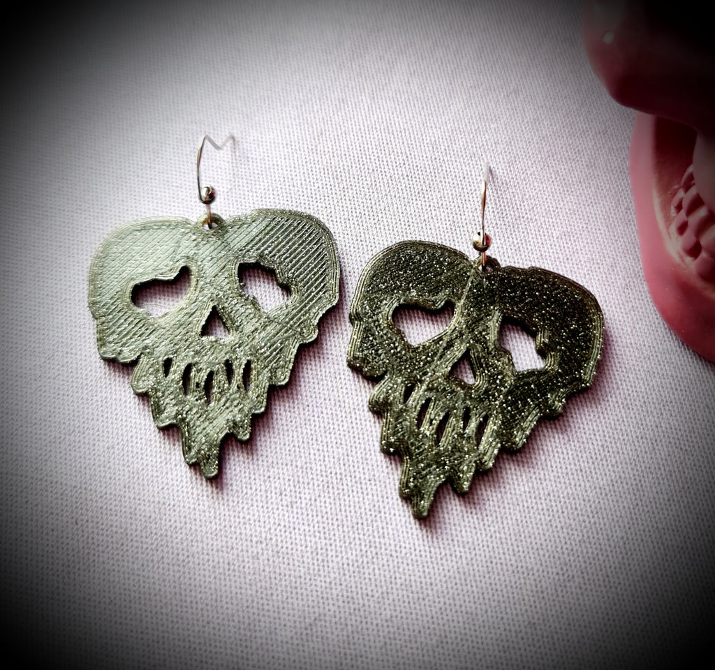 Dripping Skull Earrings
