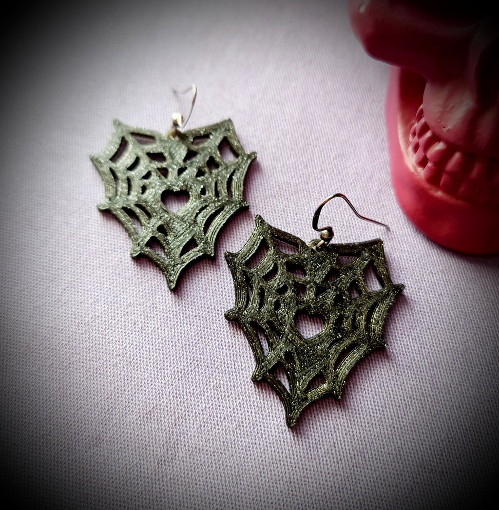 Spiderweb Love Earrings