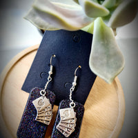 Playing Cards Resin Earrings