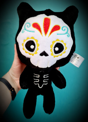Day Of The Dead Kitty Plushie