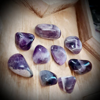 Banded Amethyst Tumbled Stone ~ Sold Individually