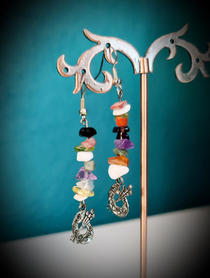 Painter Mixed Gemstones Earrings