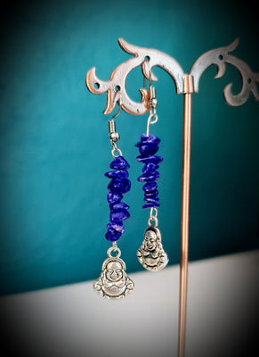 Buddha Lapis Lazuli Earrings