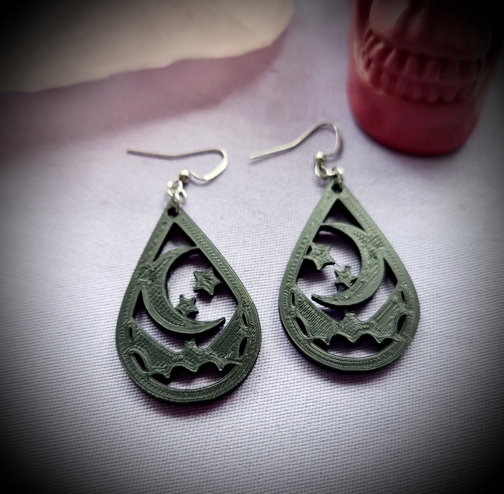 Lunar Bat Earrings