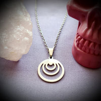 Crescents Stainless Steel Necklace
