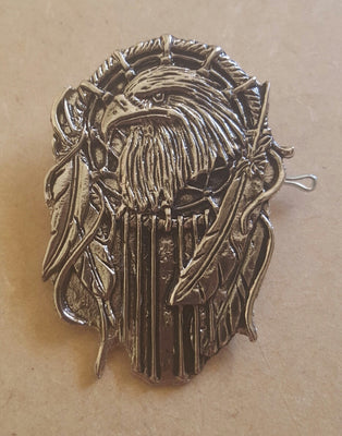 Eagle & Feathers Biker Badge