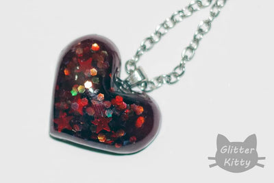 Sweethearts Resin Heart Necklace