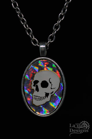Holographic Skull Necklace