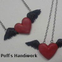 Feathered Heart Necklace