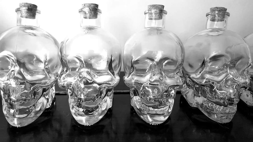 Glass Skull Potion Bottle - 700ml