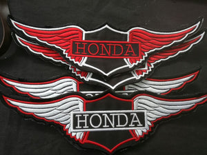 Large Honda Wings Biker Badge