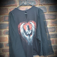 Angel Despair Bat Wing Ladies Top