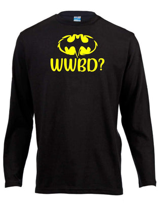 WWBD Batman Long Sleeve Shirt ↠ White On Black