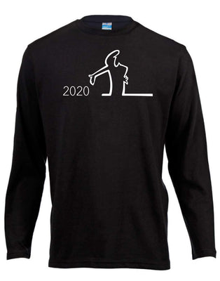 2020 Long Sleeve Shirt ↠ White On Black