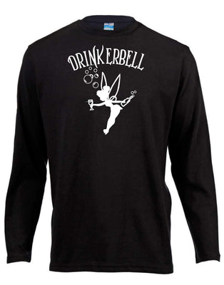 Drinkerbell Long Sleeve Shirt ↠ White On Black