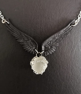 Angel Winged Orb Necklace