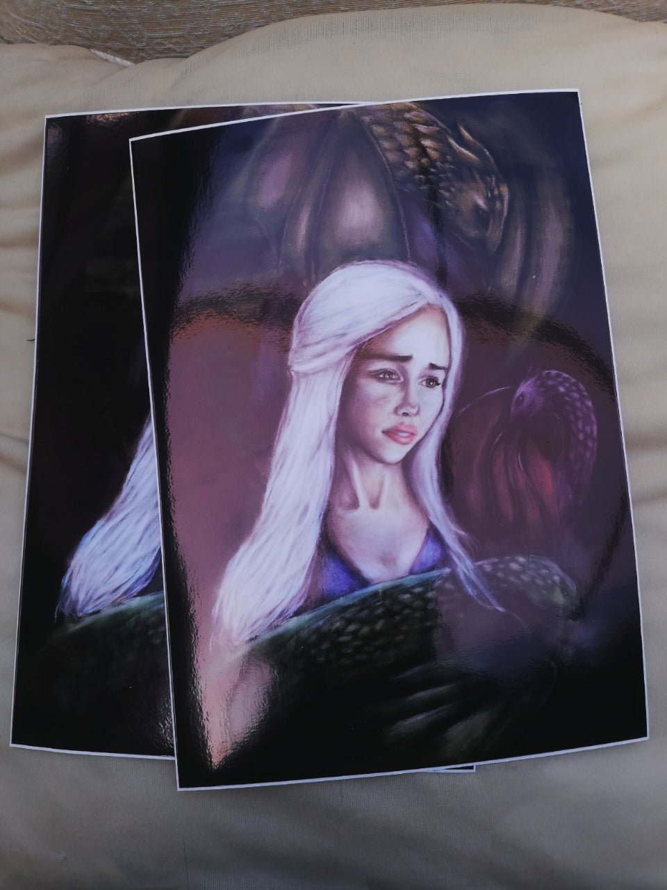 Queen Of Dragons Art Print
