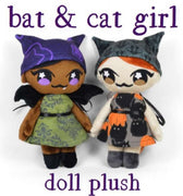 Bat Girl | Cat Girl Plushie ~ Pre-order