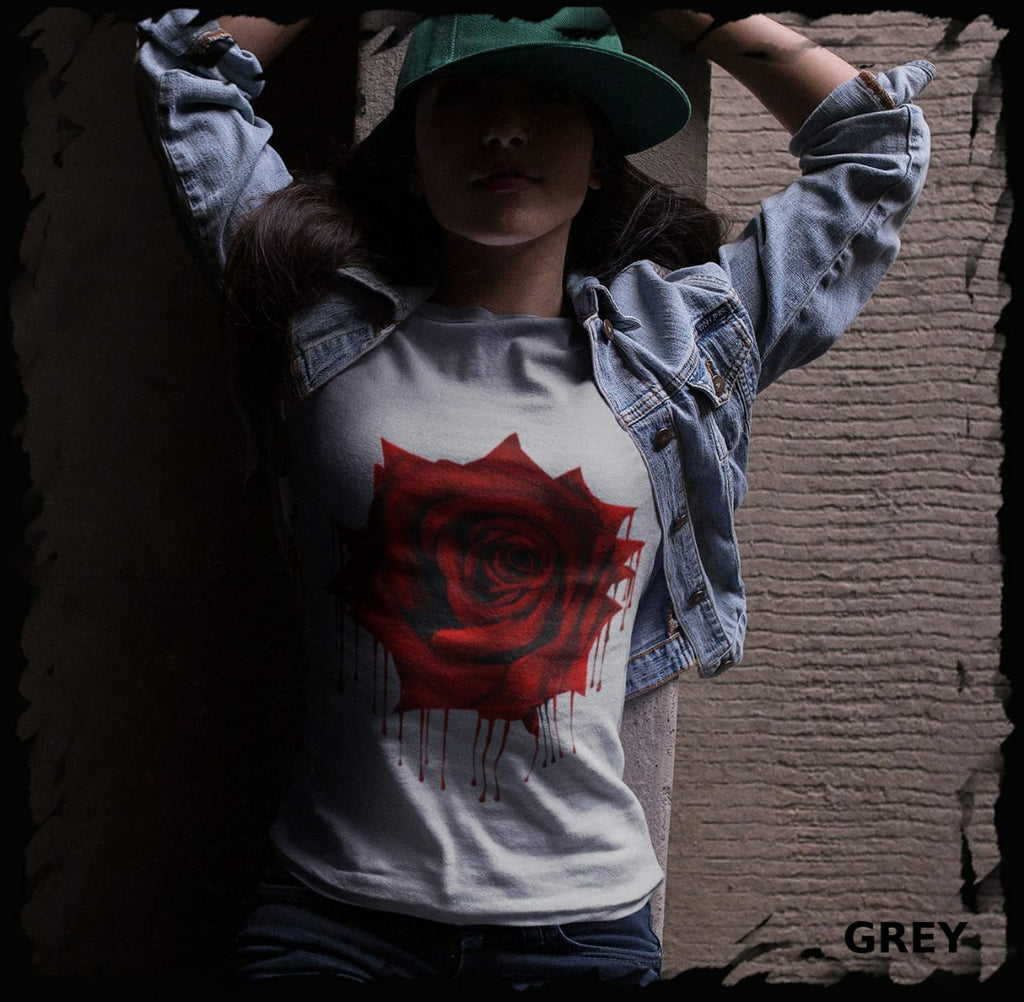 Bleeding Rose Ladies Tee ~ Pre-order
