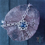 Dragon Eye Capture • Dark Blue • Chainmaille Necklace