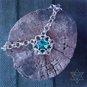 Dragon Eye Capture • Turquoise • Chainmaille Necklace