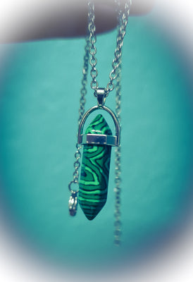 Malachite Crystal Necklace