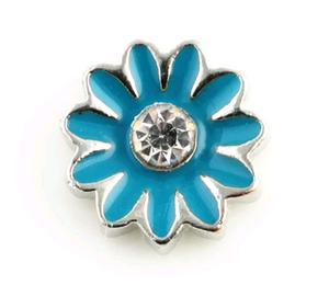 Turquoise Flower Floating Charm