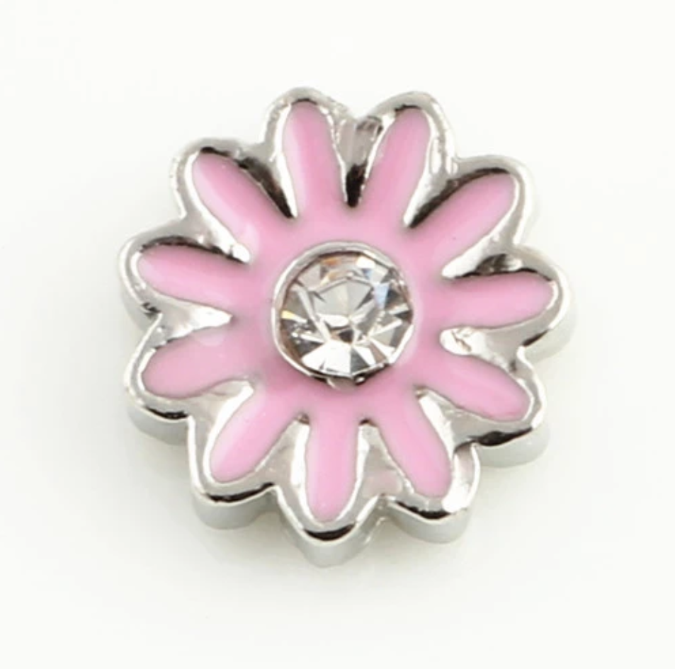 Light Pink Flower Floating Charm