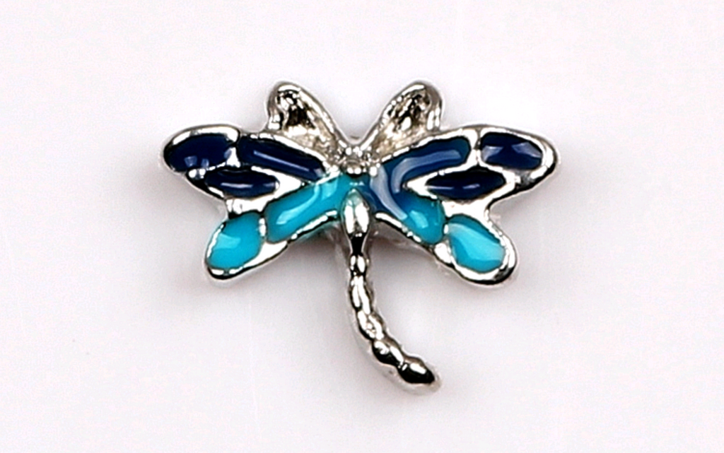 Blue Dragonfly Floating Charm