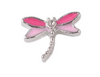 Pink Dragonfly Floating Charm