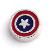 Captain America Floating Charm
