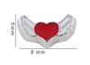 Winged Heart Floating Charm