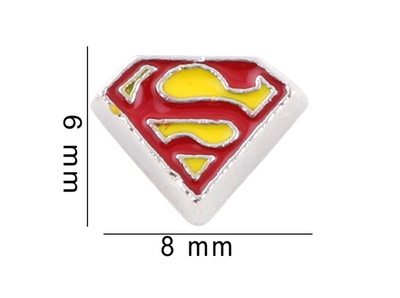 Superman Floating Charm