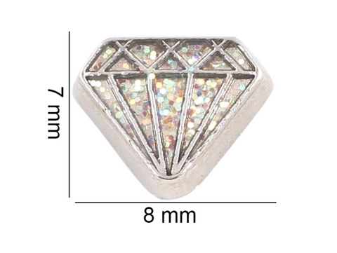 Glitzy Diamond Floating Charm