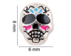 Sugar Skull Floating Charm