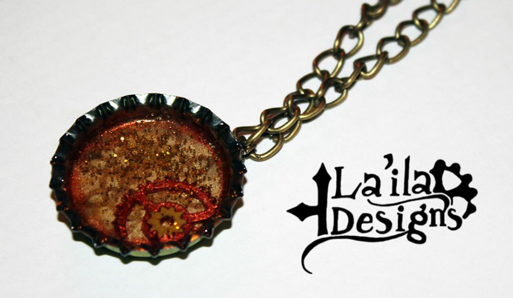 Steampunk Bottle Cap Necklace