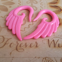 Angel Wing Ear Hangers ↠ Pink ~ Pair