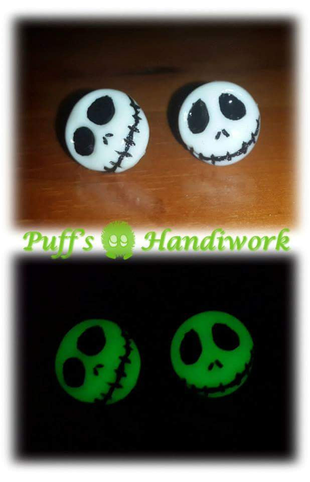 Jack Skellington Nightmare Before Christmas Glow Earrings