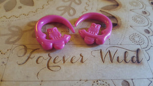 Owl Ear Hangers ↠ Dark Pink