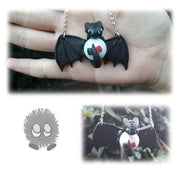 Toothless Dragon With Marble Necklace