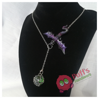 Nebula Dragon Orb Necklace