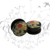 Lady Skeleton Madam Scarlet Plugs