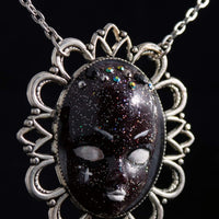 Space Face OOAK Necklace