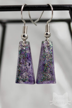 Textured Facet Earrings