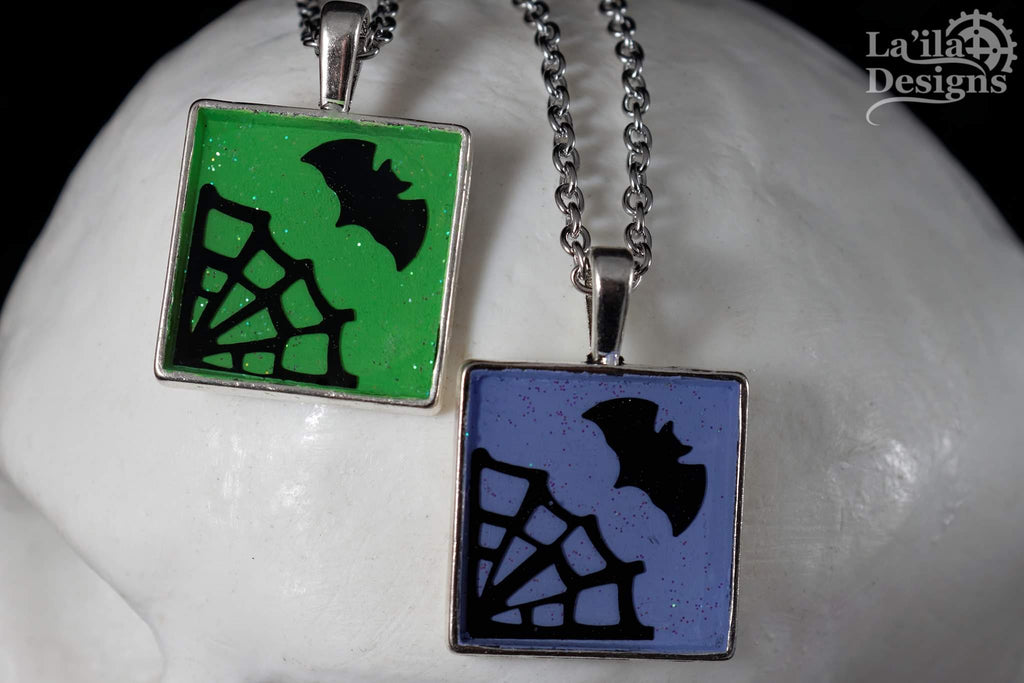 Pastel Goth Square Necklace
