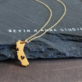 Gold California Necklace-1303G - Kevin N Anna