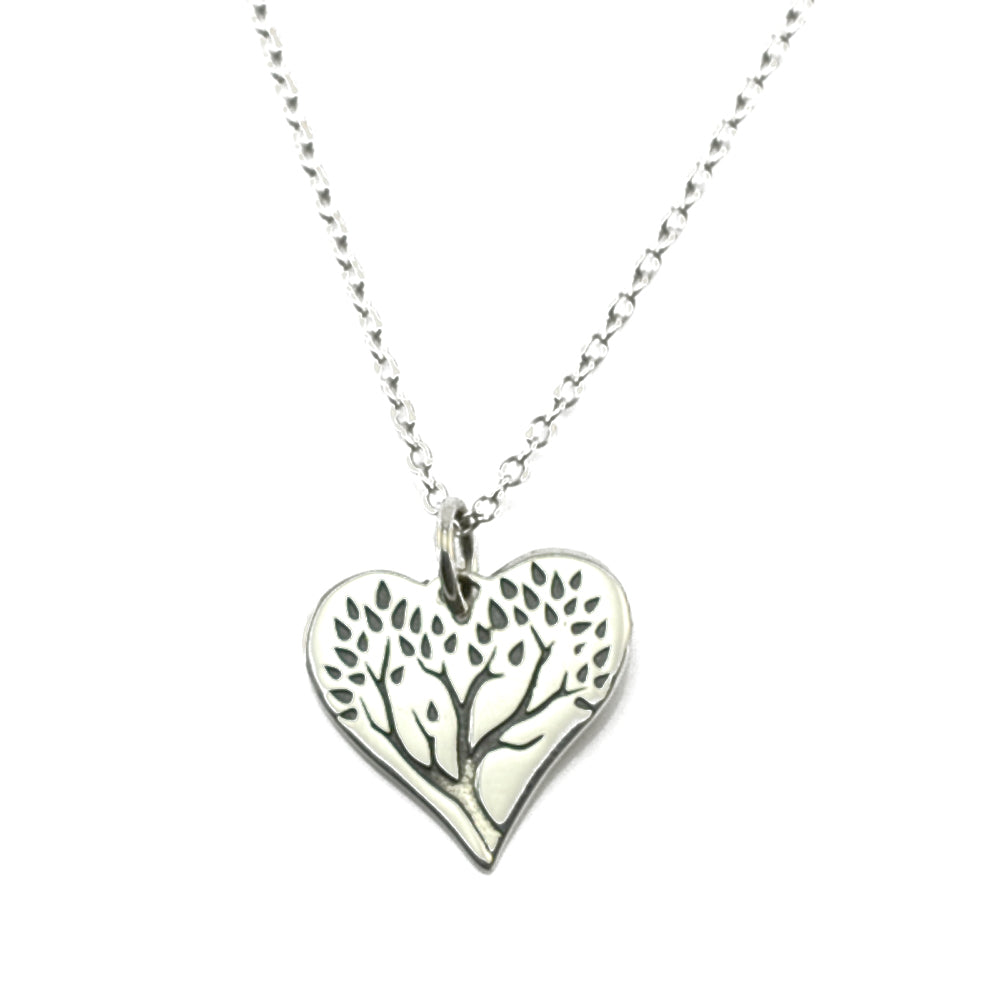 Tree of Life Heart Necklace-1639