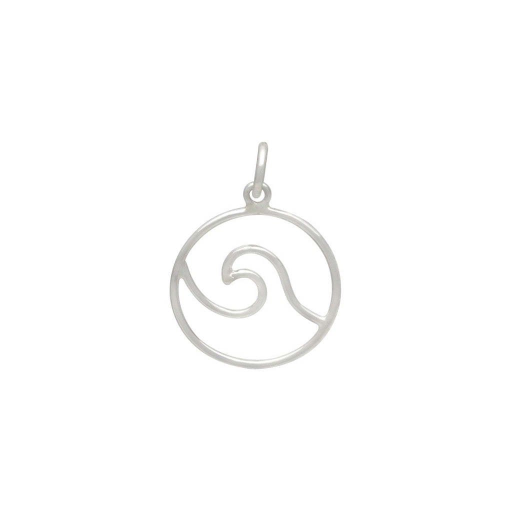 Wire Wave Pendant-3046