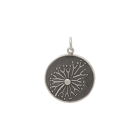 Mountain and Ocean Pendant with Bronze Sun-Large-3192